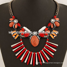 Fashion gem handmade big stone necklace