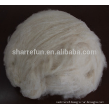 100% pure fine Inner Mongolian dehaired natural white goat cashmere fiber with SGS