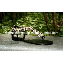 Novas sandálias flat design fashonal (hcy02-778)