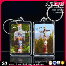 Paper inserting into Acrylic Photo Frame Souvenir Acrylic Key Chain