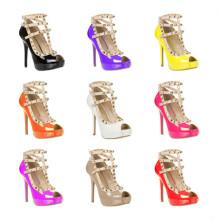 Классические высокие пятки Peep Toe Lady Fashion Sandals (S08)
