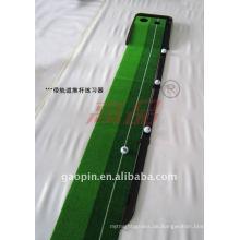 Professionelle Gras Golfbahn zwei Löcher setzen Mat