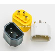 inserir IEC 60320 C14 amarelo branco preto