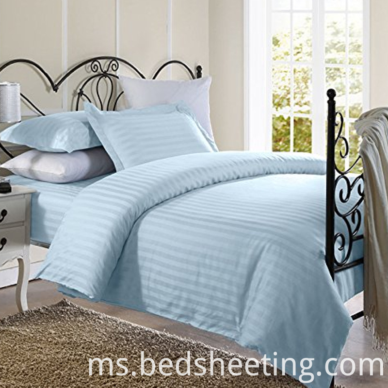 1cm Stripe Light Blue Duvet Cover