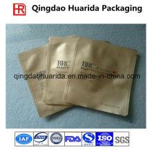 Colorido Pringting plástico tres sellos máscara facial laminado bolsas de embalaje