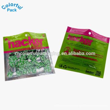 100 микрон пластиковые капсулы упаковывая бортовой мешок уплотнения 3
