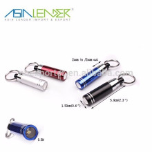 15,3 * 87,5 mm 16g Mini lampe de poche, 1 LED Keychain ABS