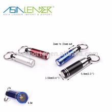15,3 * 87,5 мм 16 г мини фонарик, 1 светодиодный пластиковый брелок свет