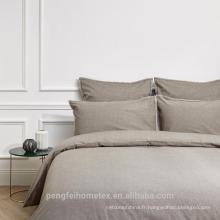 Tissu de microfibre de polyester teint à bas prix pour textile à la maison