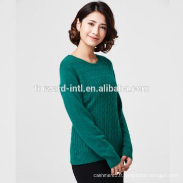 OEM ou ODM bas prix tricoté à manches longues tortue pull en laine de polyester