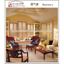 Interior Basswood Plantation Shutter Door with 63 and 89mm