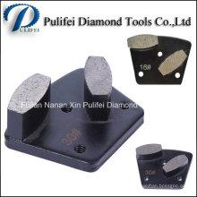 Piso concreto que muele el zapato de pulido del segmento abrasivo del diamante de Frankurt