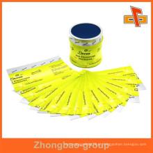 Personalizar alta qualidade melhor venda calor sensível bonito shrink wrap impressão para garrafas de vidro