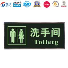 Sinal do toalete da propaganda da matéria prima para a promoção JY-WD-2015121308
