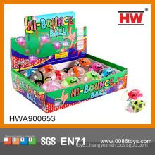 High Quality 6.5CM Cartoon Flashing Jumping ball Crazy Ball Toy
