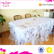 wholesale Qingdao Sinofur cheap wedding table skirting