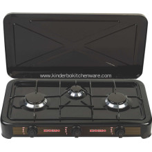 Three Burner Black Lpg Gas Stove