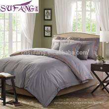 2017 preço direto da fábrica 100% algodão 4 pcs cama incluem folha de cama, capa de edredão, fronha