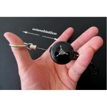 Chaîne porte-clés rétractable extérieure en métal porte-clés