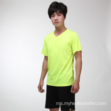 Summer green fluorescent sports cepat kering T shirt