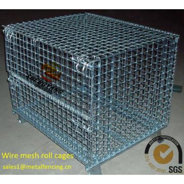 Китай мастерская использован промышленный транспорт корзины стального провода сваренной сетки визуальность электронный гальванизированный крен ячеистой сети клетки