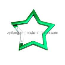 Star-Shape Aluminium Karabiner Snap Clip Haken Schlüsselanhänger Dr-Z0097