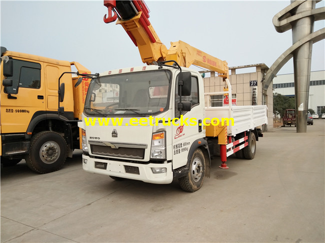 4x2 5ton Truck with Cranes