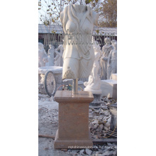Antigua estatua tallada en piedra de piedra del jardín escultura de mármol tallada para la decoración del hotel (SY-X1150)
