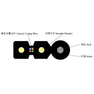 Indoor Self-Supporting Drop Glasfaser-Kabel
