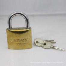 Cadeado de arco banhado a ouro com chaves cruzadas (GPP)