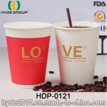 Gobelet à papier expresso chaud à paroi simple avec format personnalisé (HDP-0121)