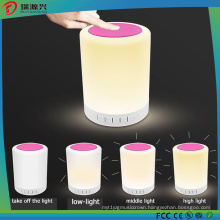 Smart Touchable Bluetooth Speaker with LED Lamp (Pink)