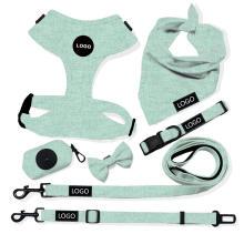 Collar ajustable personalizado del animal doméstico del perro del arnés del perro del algodón