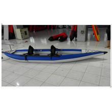 2 Pessoas Inflável Kayak com Padal