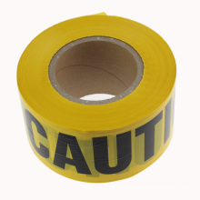 Non Adhesive PE Warning Tape Caution and Danger Printing