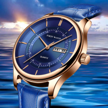 New Luxury Blue Quartz Watch For Men