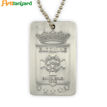 Silver Dog Tags With Custom Logo