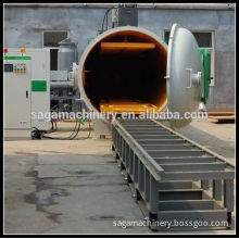 Large capacity wood lamella dryer with high frequency