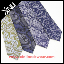 Cravate étiquette privée chinoise en Paisley Polyester Men Neck Ties