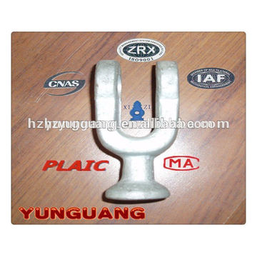 Hot-dip galvanized steel forged fitting overhead lines accessories power transmission line hardware insulator end fitting