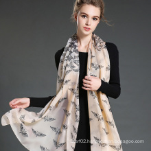 30 D Butterfly Printing Polyester Chiffon Scarf