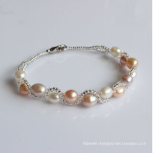 Cheap Freshwater Cultured Pearl Bracelet (EB1525-1)