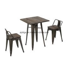 Wodden Basis Eisen Tisch Stehtisch