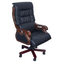 High Back couro preto Overstuffed cadeira executiva do escritório (FOH-8811)
