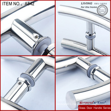 Zinc Alloy wood decoration glass door handle