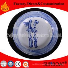 Enamel Round White Plate