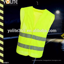 Cheap Fluo Yellow Mesh Fabric Grey Binding Reflective Safety Vest