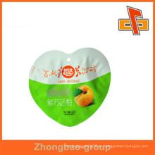 Paquete de alimentos personalizado especial en forma de bolsa de plástico bolsa de embalaje bolsa
