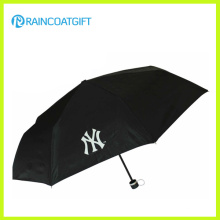 Дешевые Изготовленный На Заказ Логос Напечатанный Полиэфир Рекламируя Складывая Зонтик 3