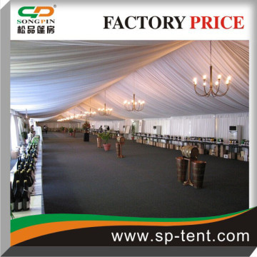 500 seaters Aluminum tent hall 15x50m With decorated linings and trappings